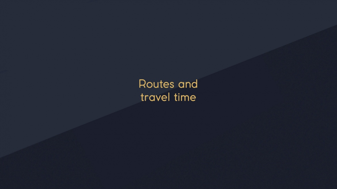 SOME NEWS: YOU CAN ALREADY ASSESS FUTURE TRAVEL TIMES!